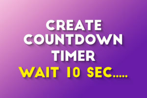 How To Create Countdown Timer For Download Button In WordPress 2020
